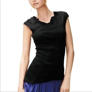 Anthro. One September Black Asymmetrical Top